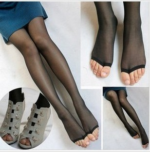 Free shipping ,2pcs/lot ,sandals open toe socks, gril stockings female  pantyhose new arrival
