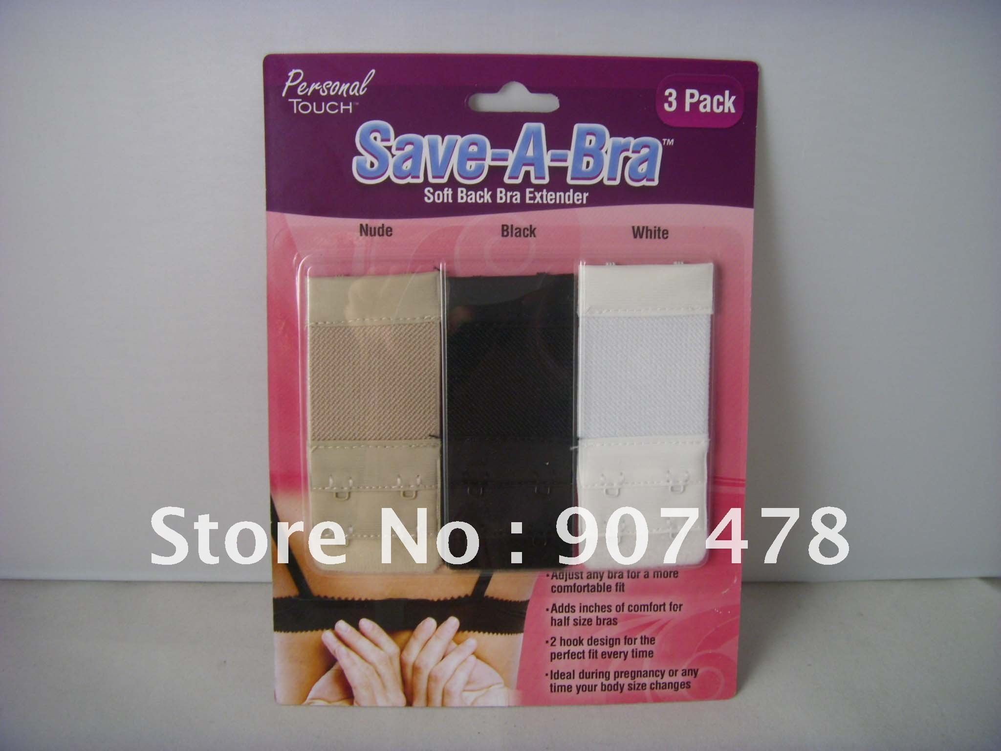 Free Shipping 300pcs/lot Save-A-Bra Soft Back Bra Extender 2 hook As Seen On TV Lingerie Solutions 2-Hook Bra Extension