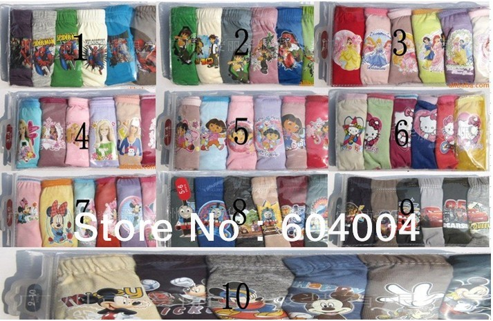 Free shipping~36pcs/lot famous cartoon character Underewears,Kids Underwear,girl and boy's underwear,baby inner wears