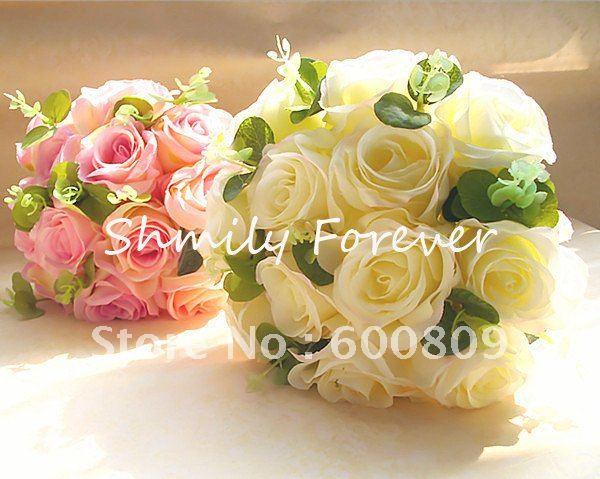 Free Shipping!3pcs/Lot Lovely Artificial Bouquet/Flower girl Bouquet/Bridesmaid Bouquet