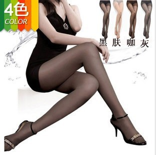 Free shipping 4 colors high quality wrap core silk women's tights stockings pantyhose, consumer pack