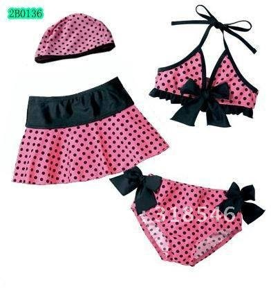 Free shipping 4pcs/lot baby swimwear baby girl swimwear