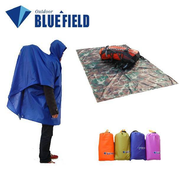 Free shipping 5 blue multifunctional outdoor camping raincoat mat tentorial kinds of usage Sale