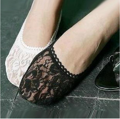Free Shipping  50pairs/lot Good Quality Lace Ankle Socks Boat Socks Invisble Socks