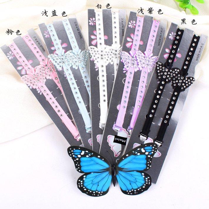 free shipping 9148 gentlewomen butterfly lace paillette flower double-shoulder shoulder strap 33 1cm