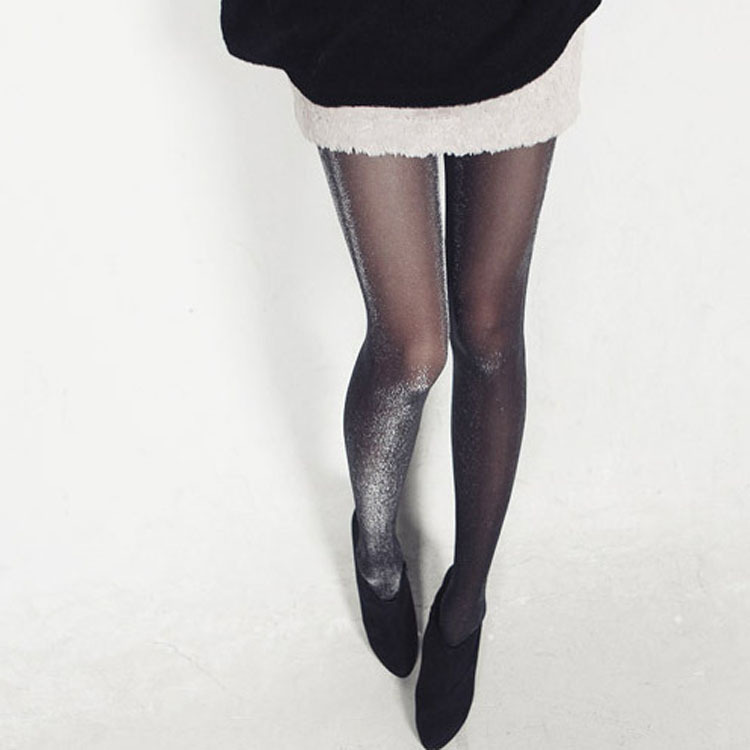 Free shipping Alluring  UltrathinElastic Thigh Silk Stockings Ultrathin 15D cored wire added silver even sexy stockings