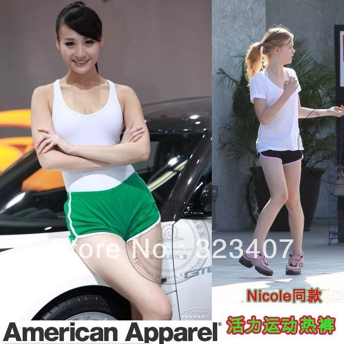 Free shipping American apparel aa nicole vitality sports shorts 7301