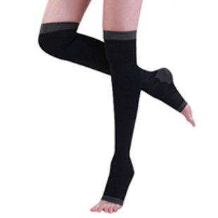Free shipping Anti cellulite Compression Step on The Foot Tights Socks/ Black/ Lavandula