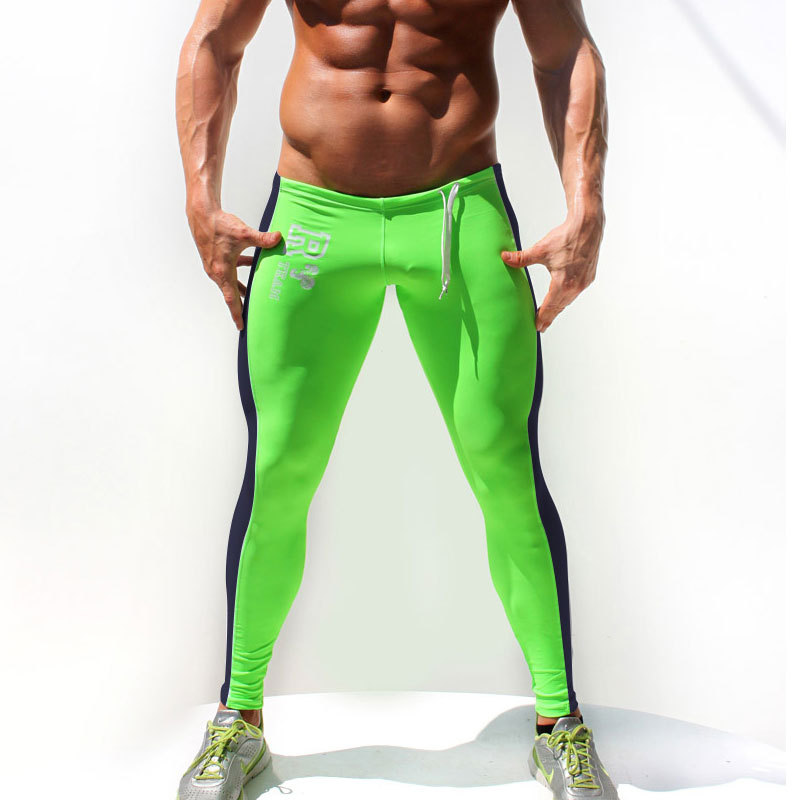 Free shipping Aqux male sports long johns low-waist tight legging men's autumn indoor fitness pants thin thermal trousers