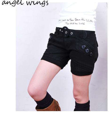 Free shipping autumn and winter latest style high quality women's woolen shorts boot cut jeans