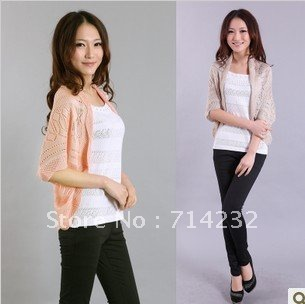 Free shipping! Autumn new arrival 2012 women's sweater cardigan thin shirt air conditioning shirt sun protection shirt cape