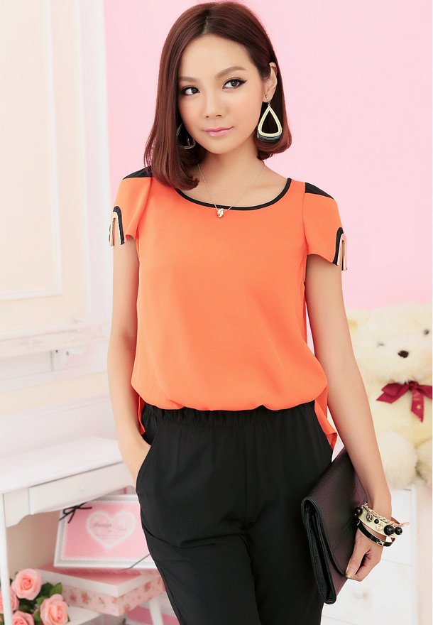 Free shipping big size women jumpsuit clothing 2012 summer fashion color block two ways 2 colors L-3XL