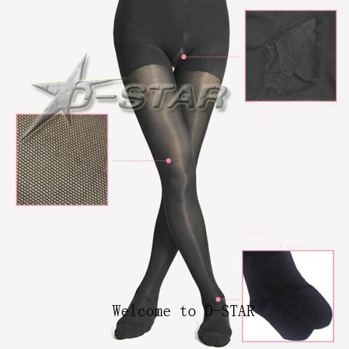 Free Shipping BONAS Lady Fashion Prevent Varicose Veins 120D Black Leggings Pantyhose
