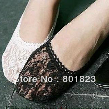 Free shipping by China post -24pairs/lot,Stealth lace ship socks(color same as picture),best-selling