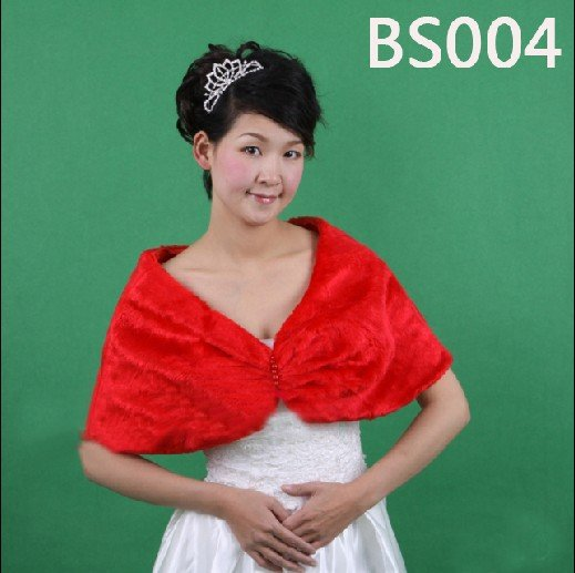 Free shipping by EMS, 2011 HOT Style Lowest-price,Wholesale/Retail High Quality,Wedding Jacket/Stola,Red Bridal Shawls BS004