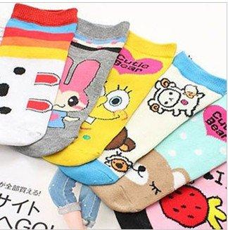 Free shipping  cartoon short socks unisex #C0093