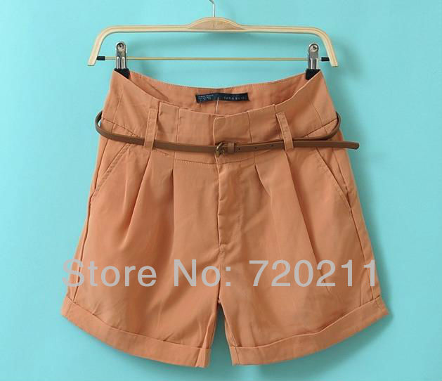 Free shipping! casual mid waist casual black shorts women 2013, hot selling summer hot shorts women 2013