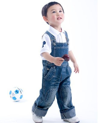 Free Shipping! children boys jeans jumpsuits fashion denim overalls pants children bib pants summer clothing Retail