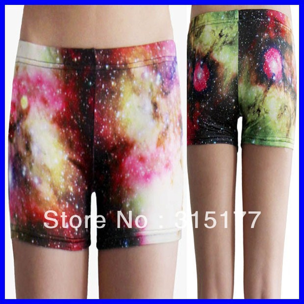 Free shipping Classic Starry Sky Short Legging wholesale 10pieces/lot Mix order Tight high Shorts 2013 Women sexy pants 79152