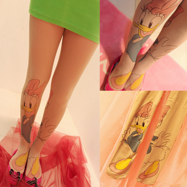 "Free Shipping Cool Punk Women's Tattoo thick ""Donald "" Pantyhose Stocking,Tights socks, Silk Stockings, Fashion Pantyhose"
