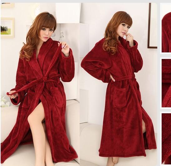 FREE SHIPPING Coral fleece pajamas leisure wear coral fleece bath robe pajamas wholesale