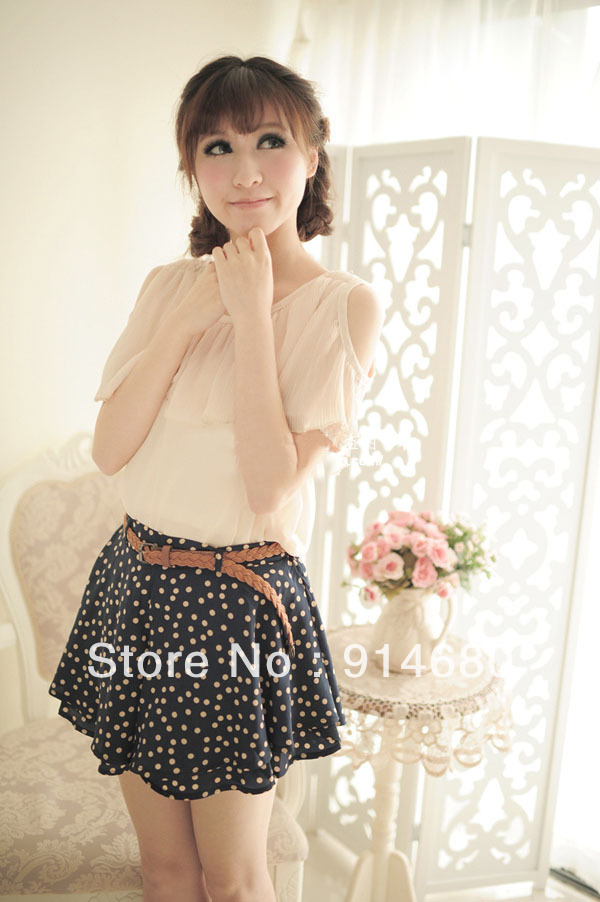 Free shipping!Corea New Style The fold chiffon short pant Three color Free size