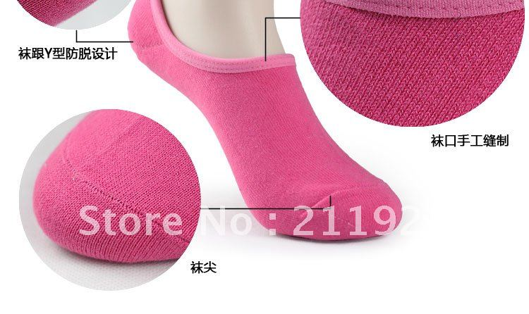Free shipping cotton socks candy invisible Sock Slippers -3 without trademark