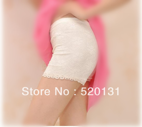 free shipping east ou Lace decoration summer safety pants double layer plus size short woman Wholesale and retail