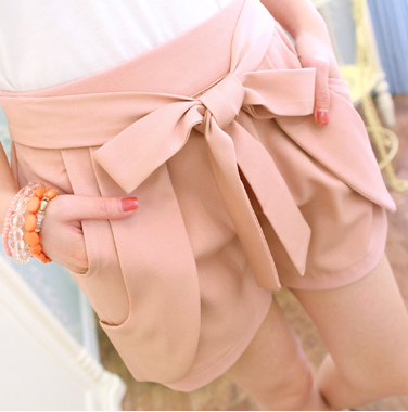 Free Shipping Elegant Korean Style 2013 New In Fashion Bandage Waist Women's Shorts Solid Color Casual All Match Female Shorts
