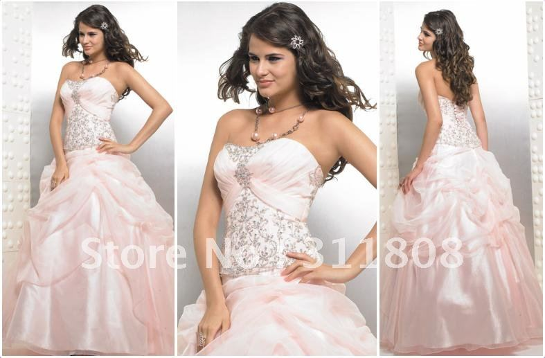 Free Shipping Embroidery Pink Ball Gown Quinceanera Dresses Sweet 16 Dresses