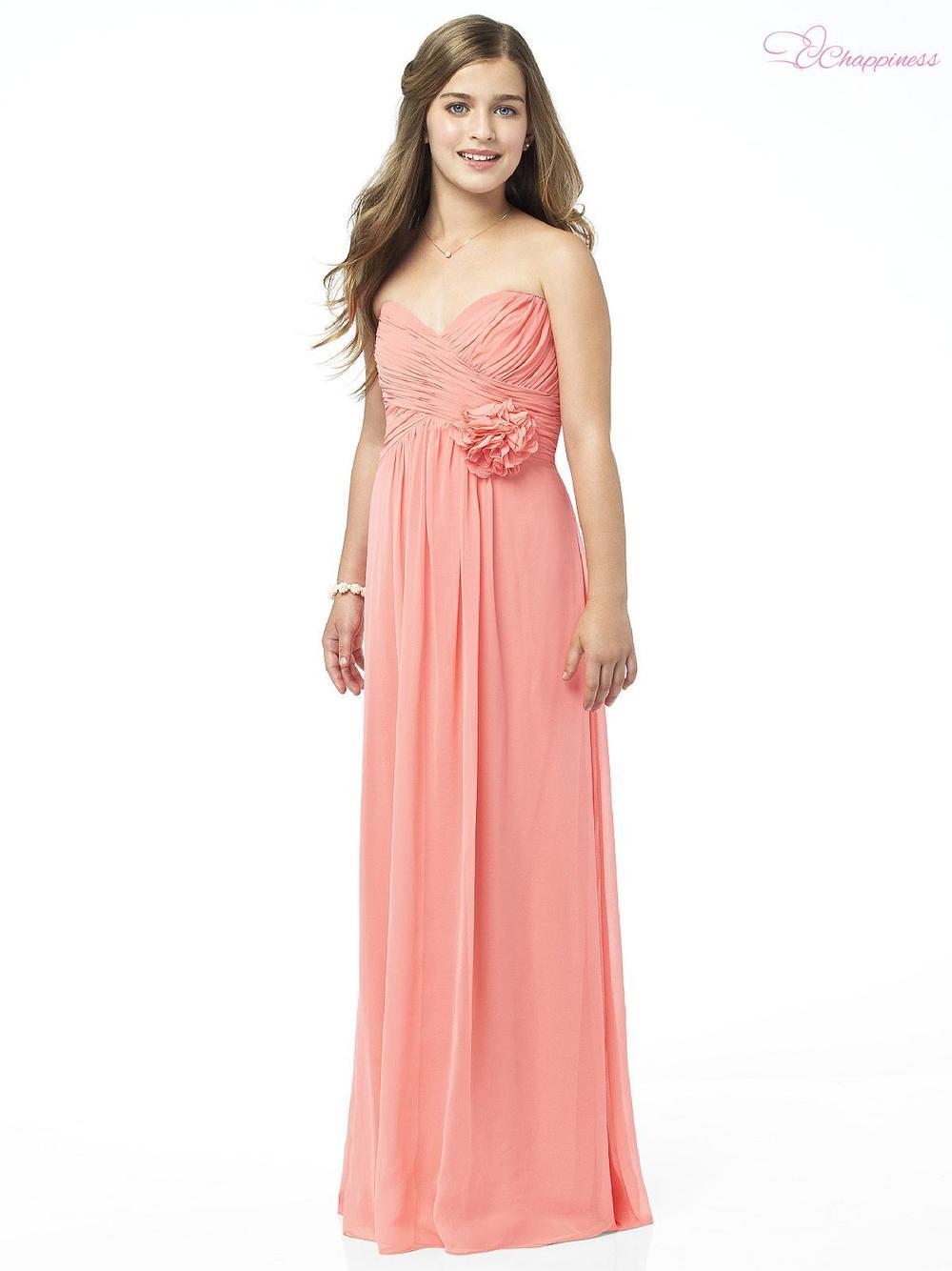 Free Shipping Empire Sweetheart Floor Length Chiffon Flower Communion Dress 20121108254