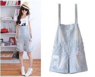 Free Shipping Exotic Stripe Love Sunshine Badge jumpsuit Pants, European Jeans, Jumpsuits Overalls,  jumpsuit denim AD9996JK