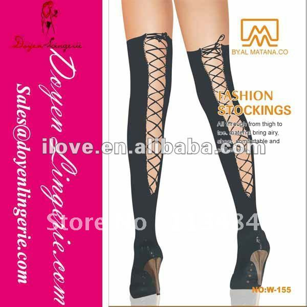 Free Shipping!Factory Price!Fashion Varicose Veins Stockings With Lace Up ST2034