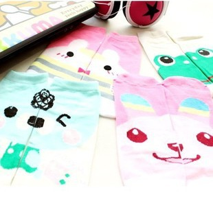 Free shipping factory wholesale lovely cartoon character short socks for women mixed pattern
