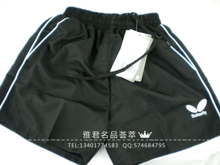 Free shipping  famous butterfly shorts Table Tennis clothing shorts BWH305 polyester / men / women shorts