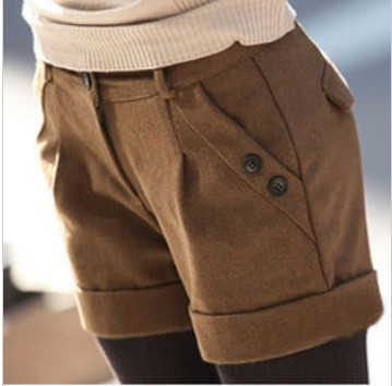 Free Shipping Fashion 2013 New Woolen Shorts For Women Leasure Boots Short Shorts Casual Wear Plus Size S/M/L/XL/XXL DK-009