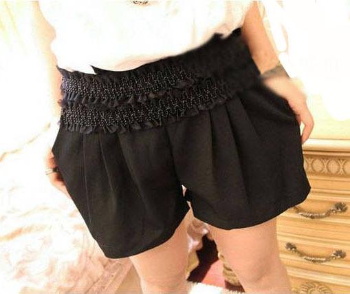 Free Shipping Fashion Beads loose pants,women latern shorts summer, causal shorts for women MG5973SK