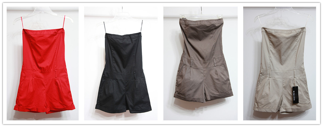 Free Shipping Fashion Cool Tube Top Tooling One-piece Jumpsuits
