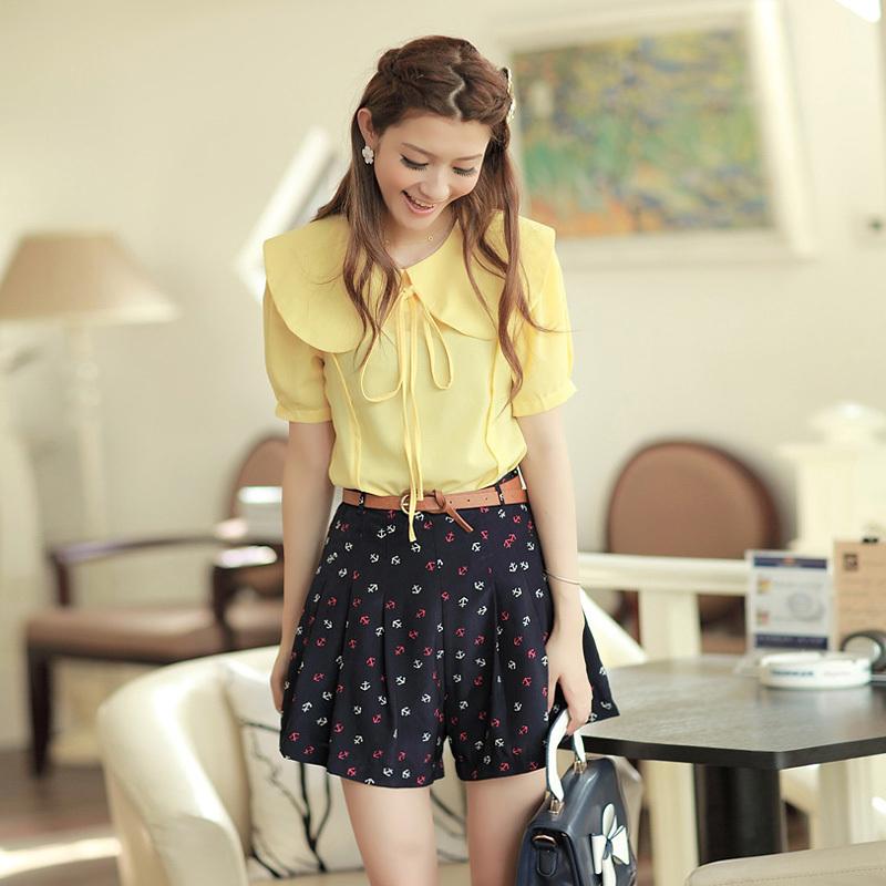 Free Shipping! fashion! hot! 2012 shorts female summer chiffon skirt pants loose shorts legging high waist shorts sexy