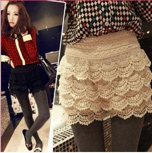 Free shipping Fashion Temperament Universal Crochet Lace shorts / 2 color