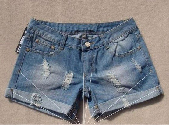 Free Shipping fashion women's Denim jeans hole shorts hot pants 280 shorts