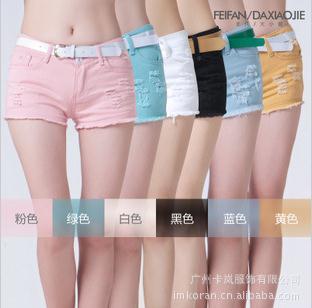 free shipping fashion women's denim shorts cotton women's jeans shorts,hot selling cause ladies' denim short pants wholesale