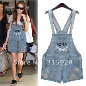 Free Shipping fashion women's Washed strap denim shorts 8850 hot shorts