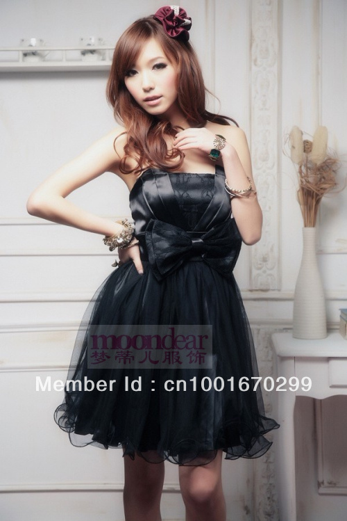 Free Shipping Fashional Popualar Style Bridal Sexy Lovely Black formal Gown Lady Lovely Party Evening Wedding Dressing
