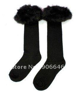 FREE SHIPPING Faux Fur Leg Cover Warmer Muffs Boots Leggings Socks  1Pairs/LOT