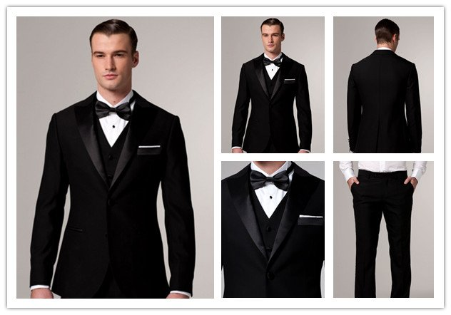 free shipping free shirt free bow free vest  tuxedos for wedding  with Single-Breasted 2 Buttons mens wedding suit NO.0091
