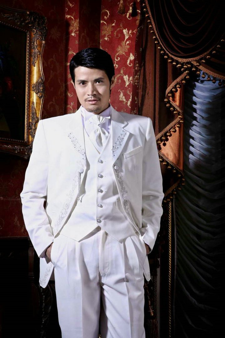 free shipping free shirt free bow Tuxedo  with Single-Breasted 2 Buttons wedding suits  NO.0107