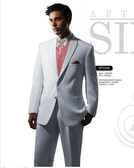 free shipping  free  vest free bow  Custom handimade mens suit wedding tuxedos with mens wedding suit NO.0348