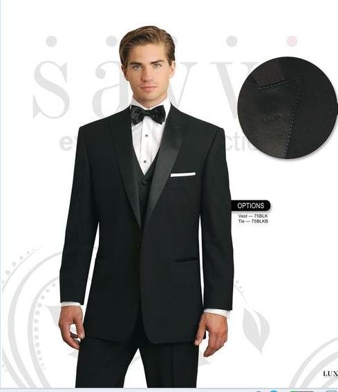 free shipping  free  vest free bow  Custom handimade mens suit wedding tuxedos with Single-Breasted 2 Button NO.0313