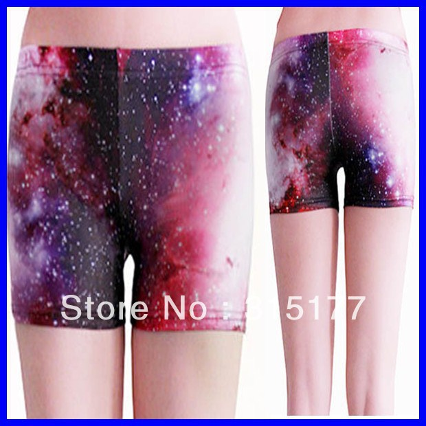Free shipping Galactic Short Legging wholesale 10pieces/lot Mix order Tight high Shorts 2013 Women sexy pants 79156